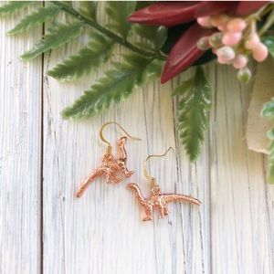 Wild Rose Gold 18K Gold Dipped Dangle Earrings